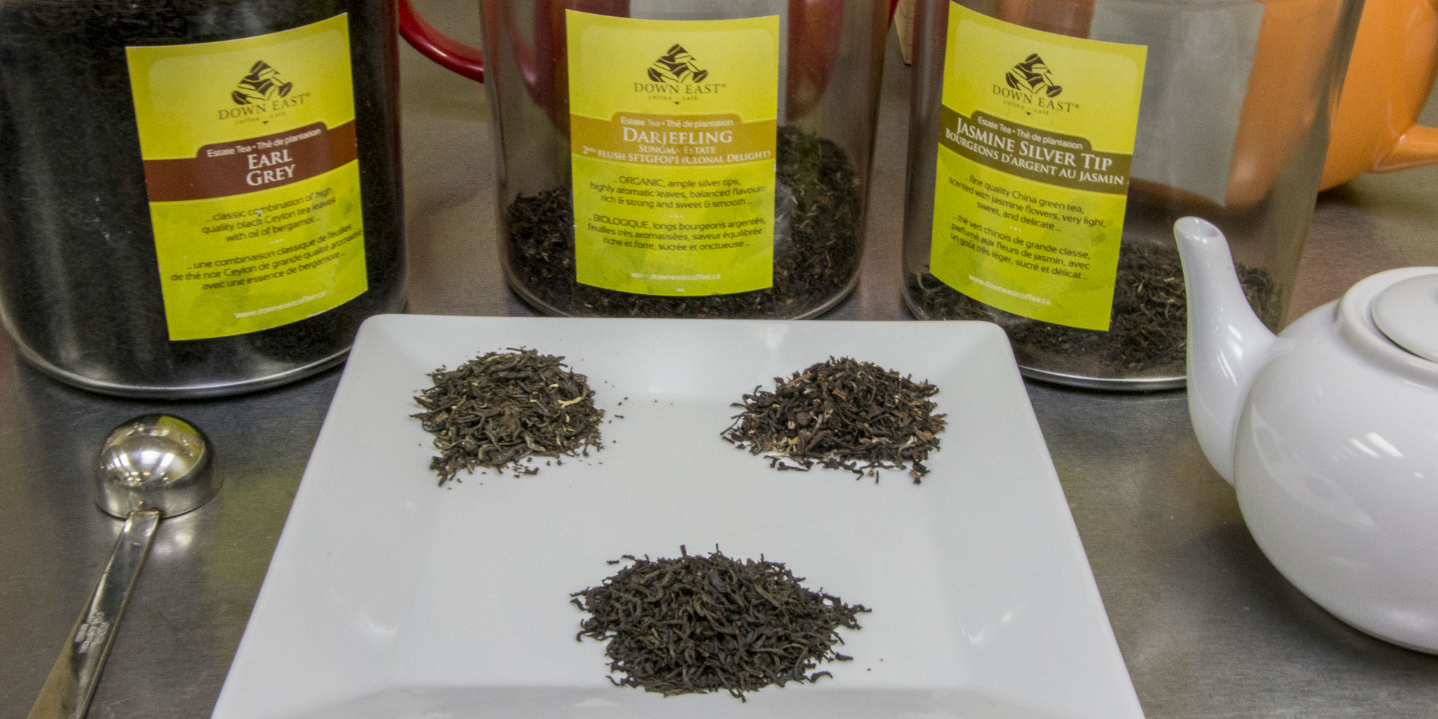 Café Codiac also offers a selection of fine loose teas from all over the globe.