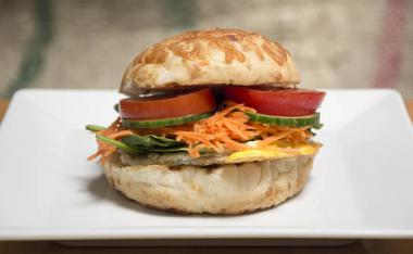 All-day veggie breakfast sandwich